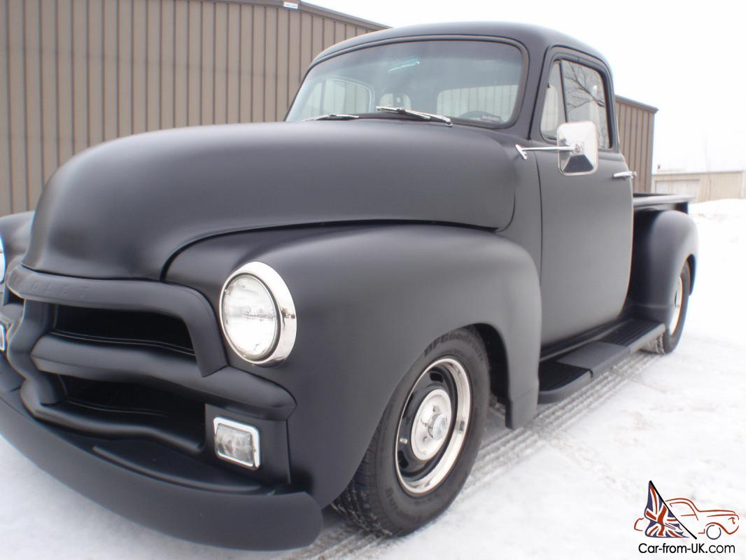 1954 Chevy 5 Window Custom Pick Up V8 Completly Restored Crew Cab