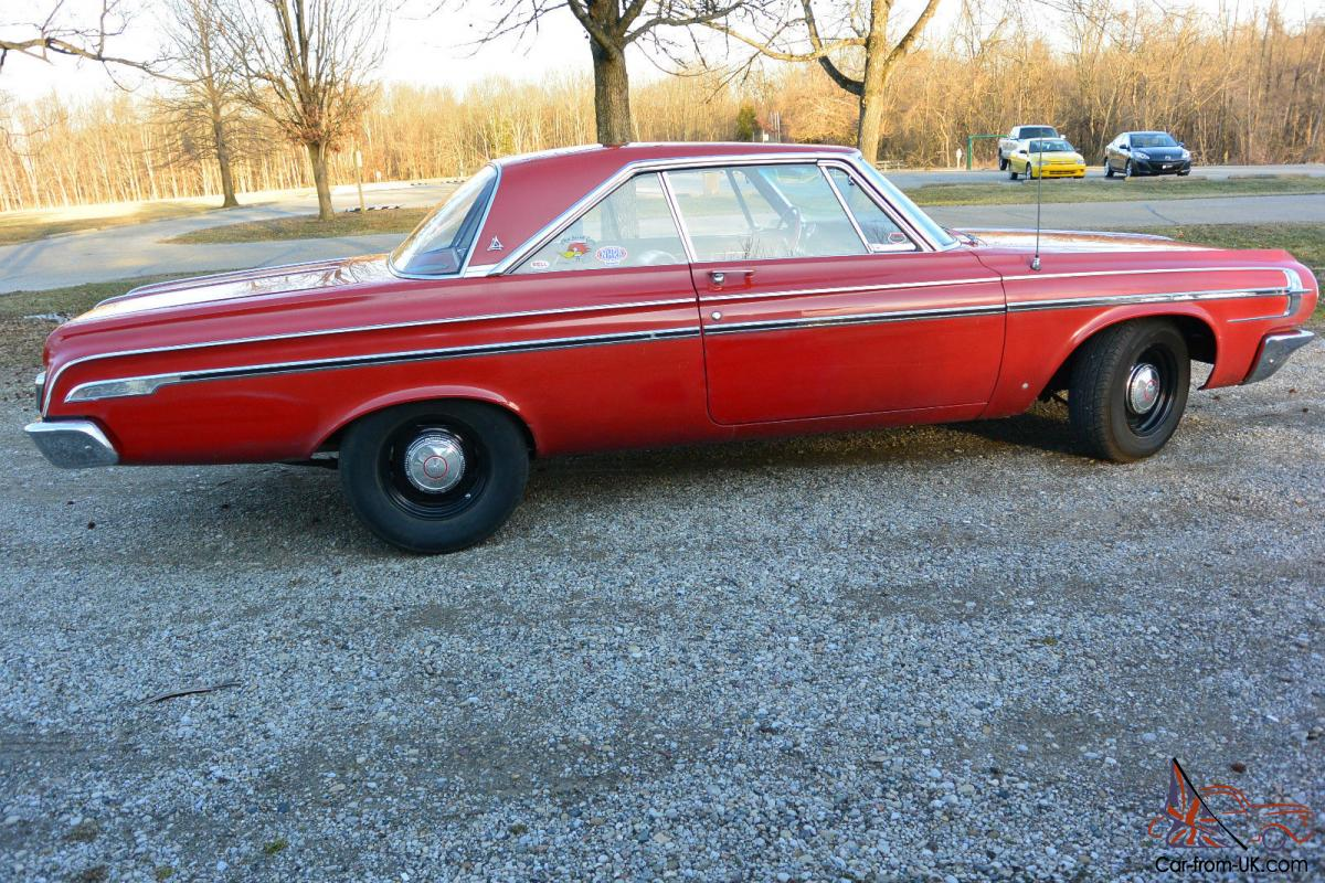 1964 Dodge Polara Max Wedge Never Restored No Rust Ever Reserve Color Chips