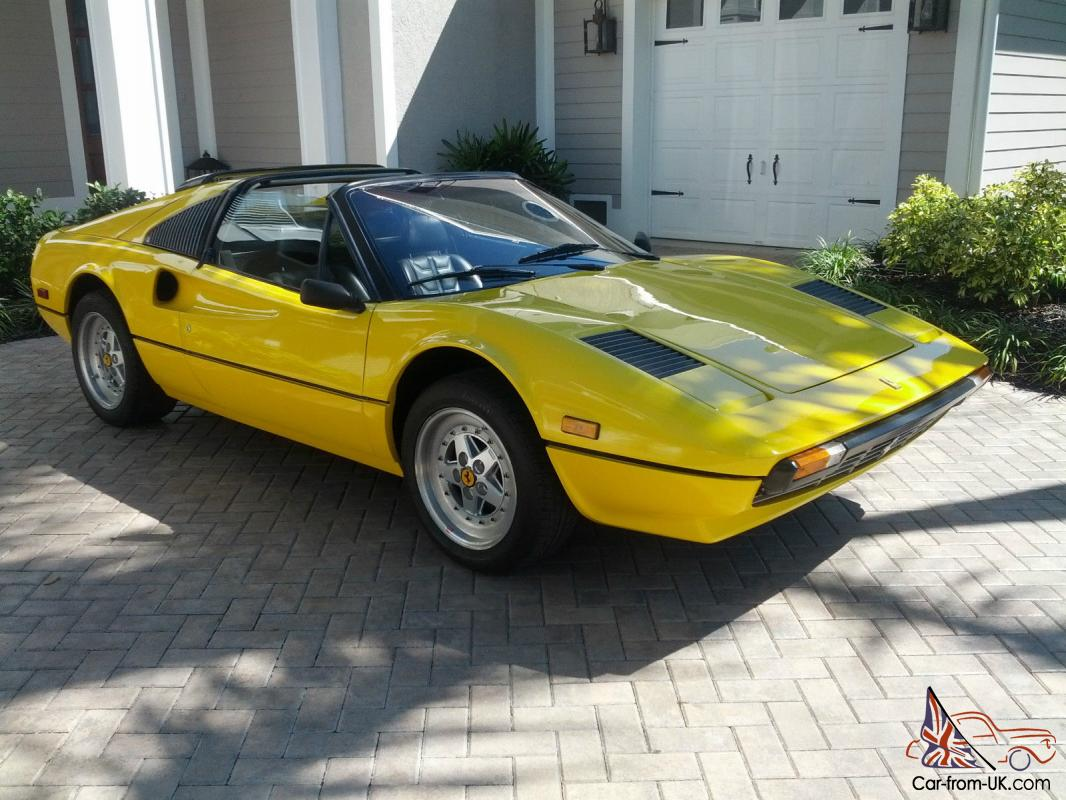 no reserve 1980 ferrari 308 gts euro with carbs fly. Black Bedroom Furniture Sets. Home Design Ideas