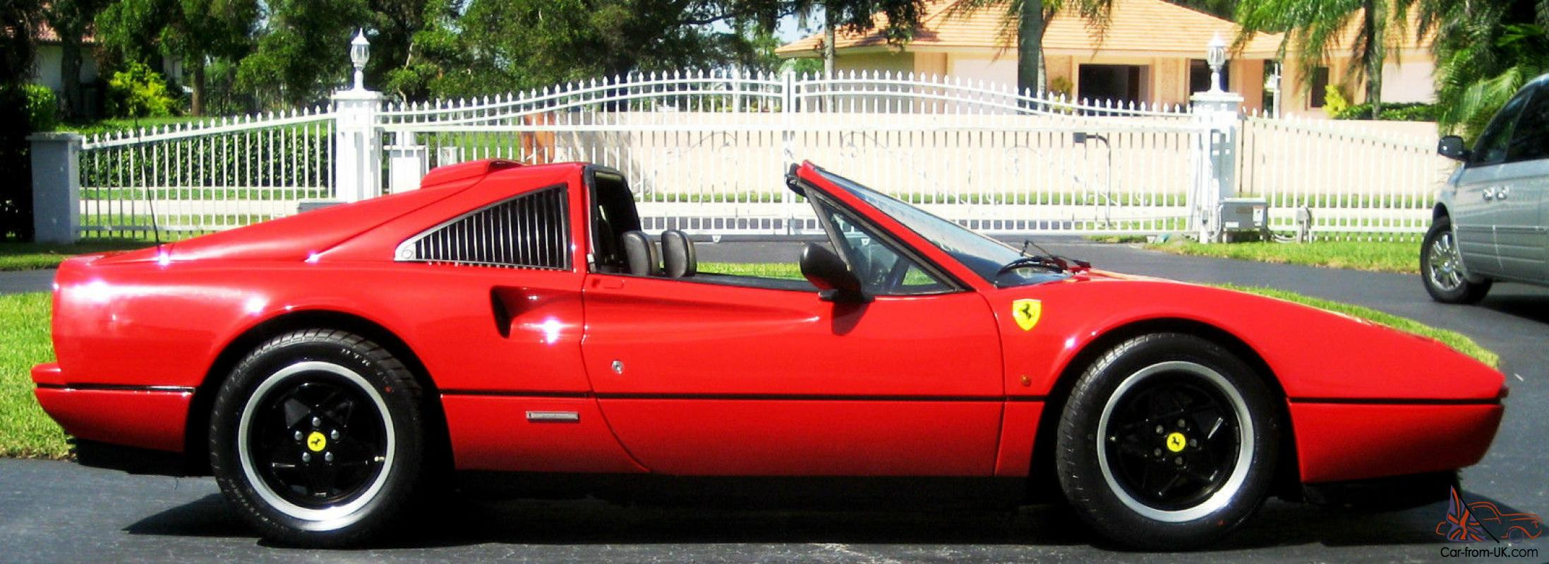 Ferrari 328 gts red with black and recent belt and fluid service 1987 ferrari 328 gts red with black and recent belt and fluid service euro look vanachro Image collections