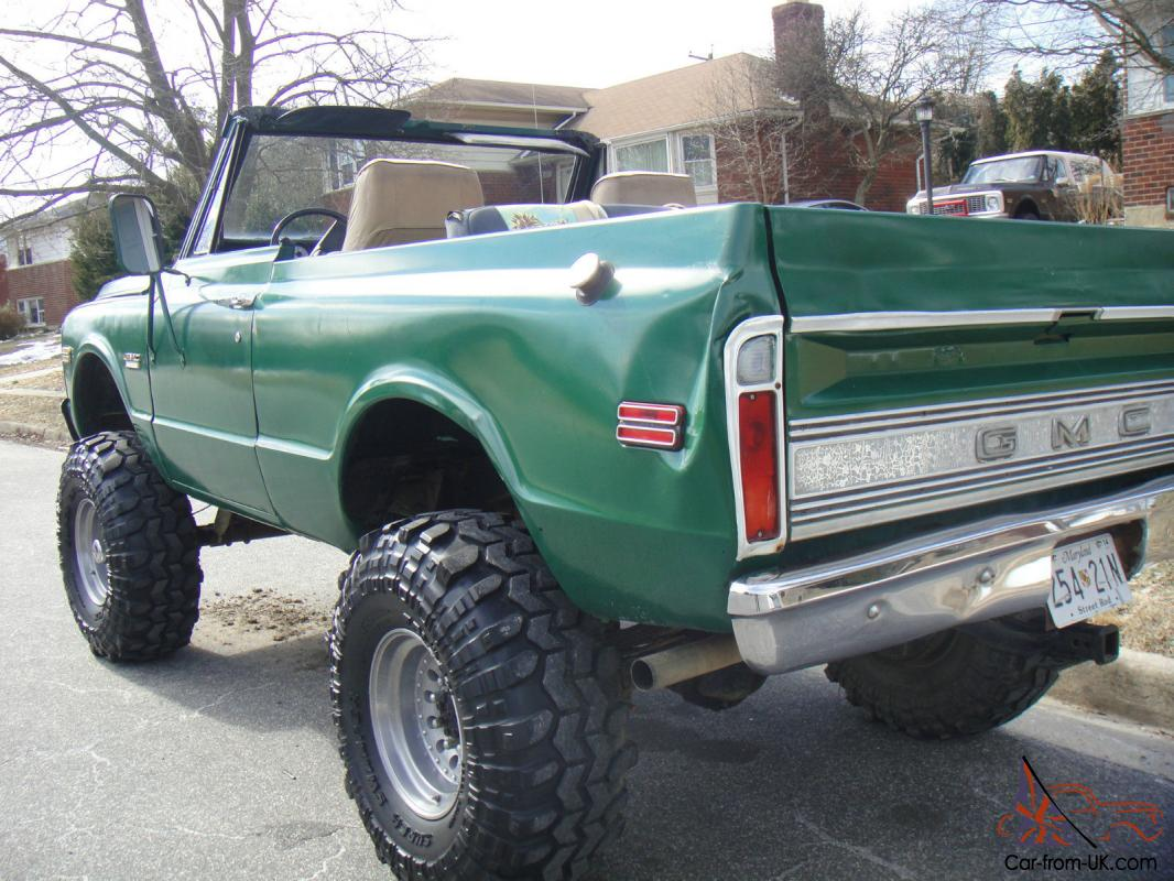 Rare 1972 Gmc Jimmy Half Cab Convertible Cheyenne 1500 Cst Big