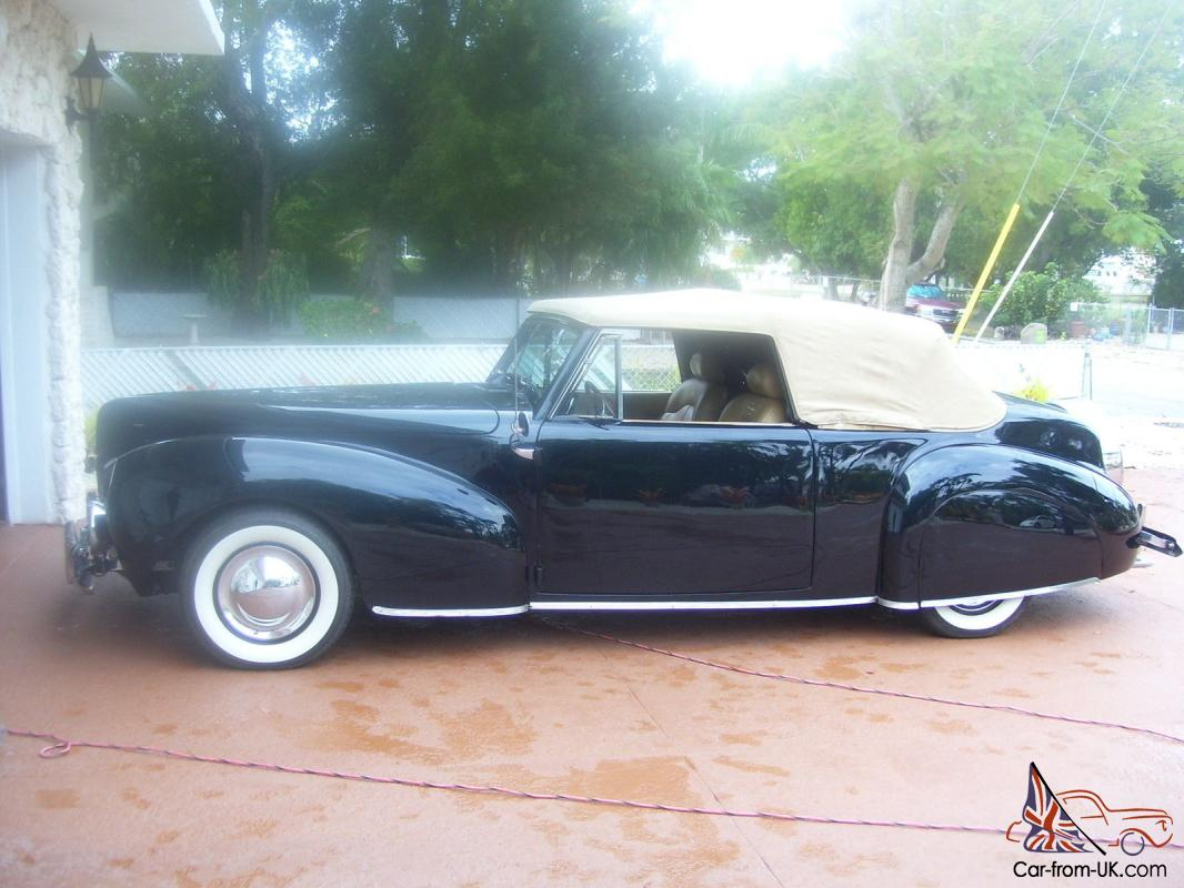 1940 lincoln continental convertible zephyr. Black Bedroom Furniture Sets. Home Design Ideas