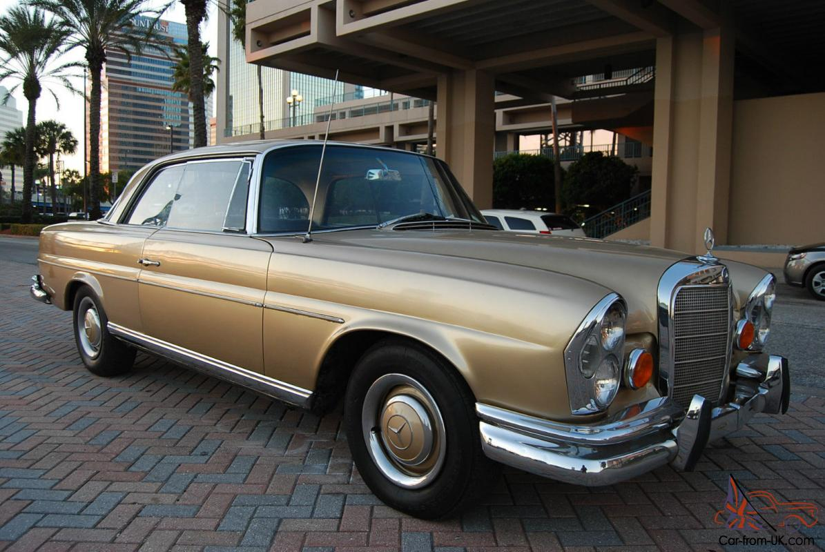 1967 mercedes benz 250se w111 coupe sunroof new interior for Mercedes benz sunroof repair