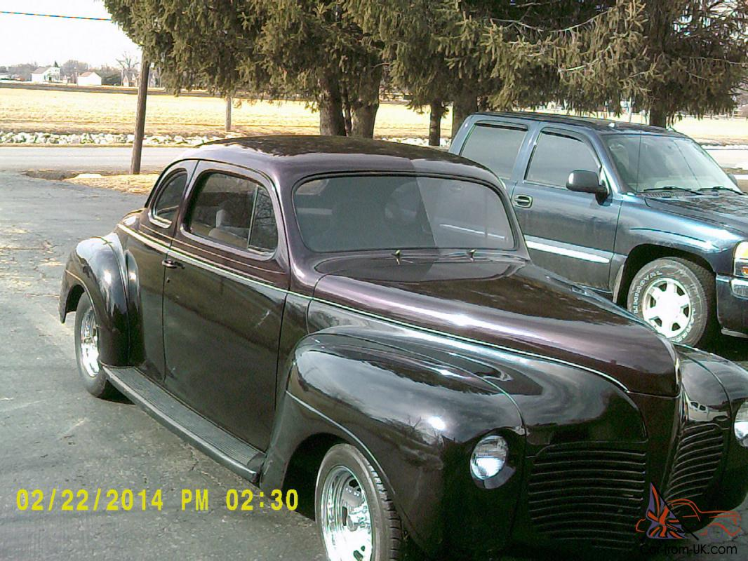 1941 Plymouth Coupestreetrodsctahotrod Special Deluxe Parts Photo