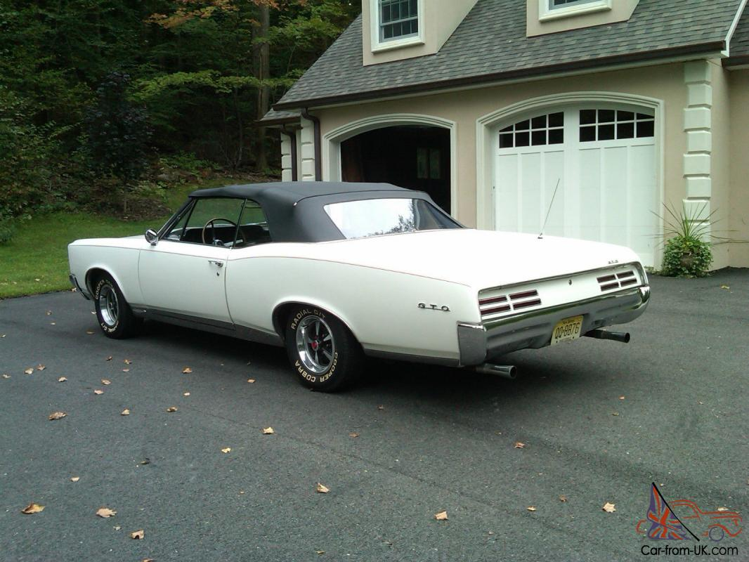 1967 pontiac gto convertible 4 speed ho phs doc. Black Bedroom Furniture Sets. Home Design Ideas