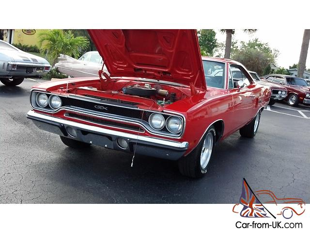 1970 classic plymouth gtx 4 speed 440hp2 motor rare stripe for Ebay uk motors classic cars