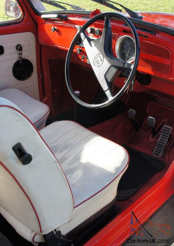 vw beetle  candy apple red convertible great condition
