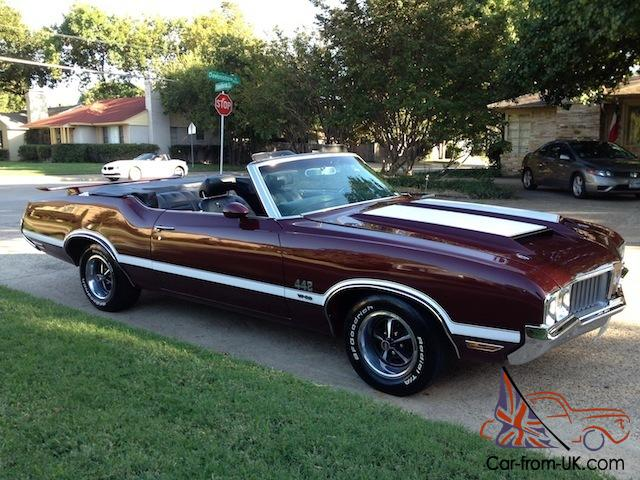 1970 442 Olds 455 With W30 Trim 4 Speed Convertible