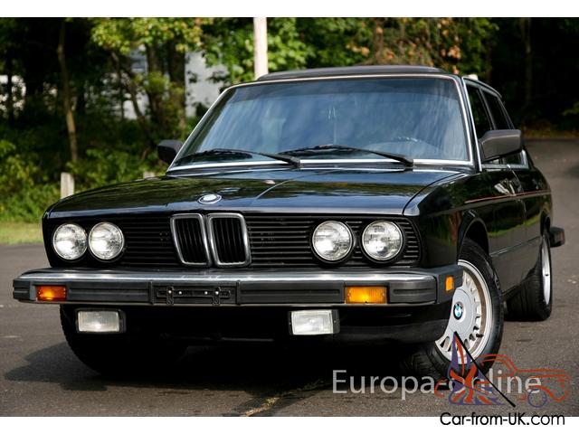 1986 bmw 535i 5 speed manual 3 4l e28 m30 535 serviced. Black Bedroom Furniture Sets. Home Design Ideas