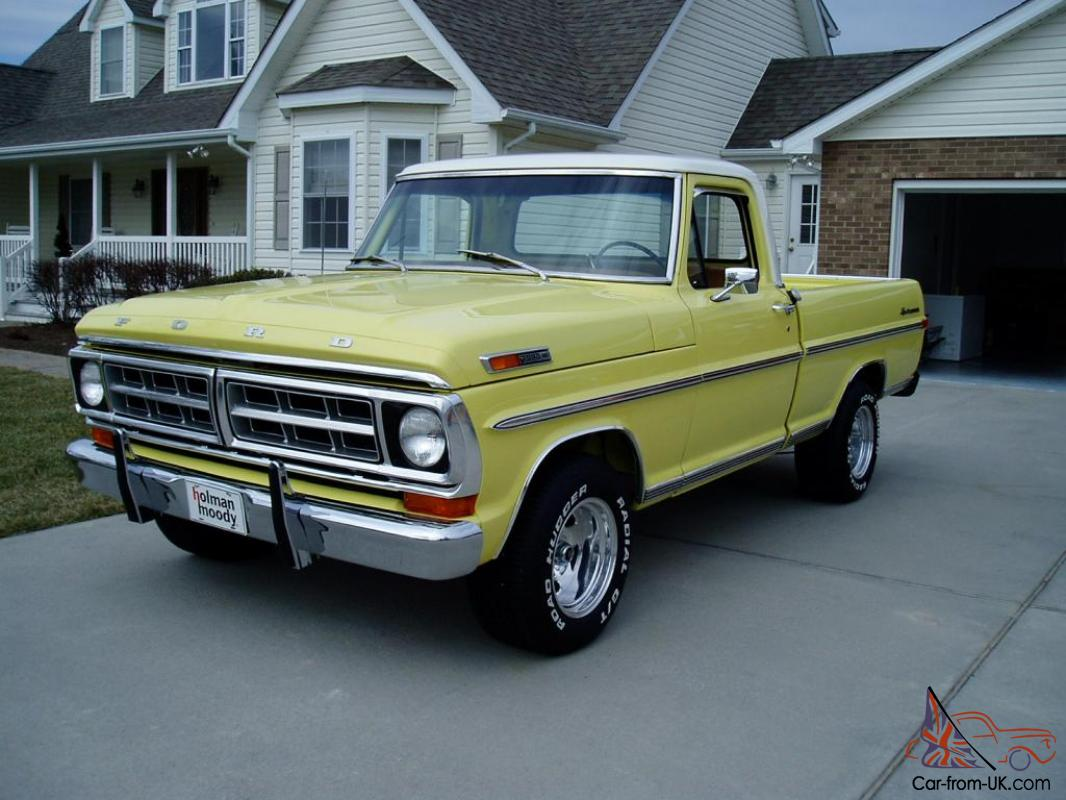 1971 ford f 100 sport custom frame off restored one of