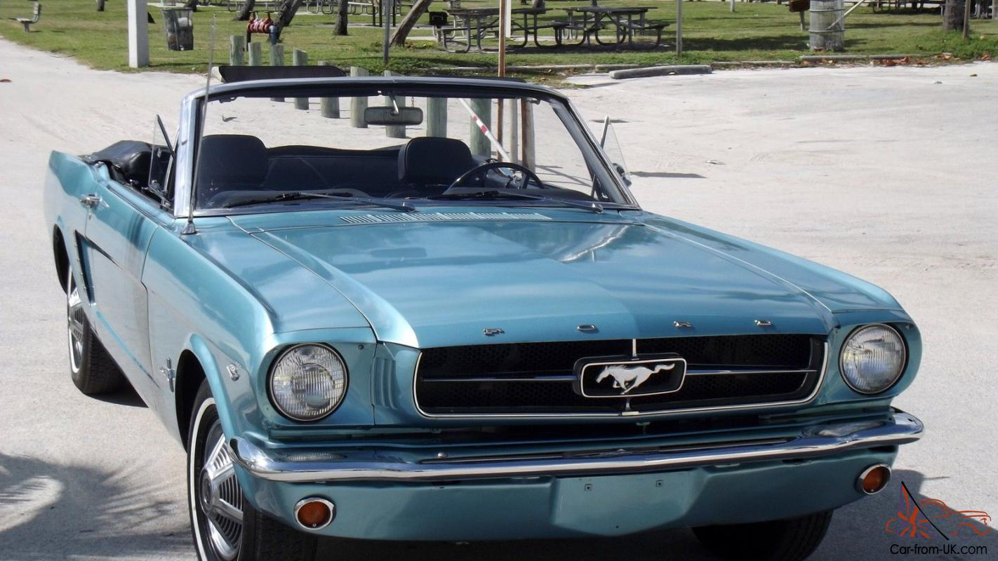 1965 ford mustang convertible turquoise metallic with black interior v8. Black Bedroom Furniture Sets. Home Design Ideas