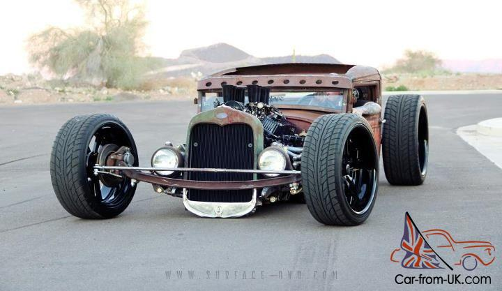1931 Ford Rat Rod Pickup Model A Rusty With Billet Wheels