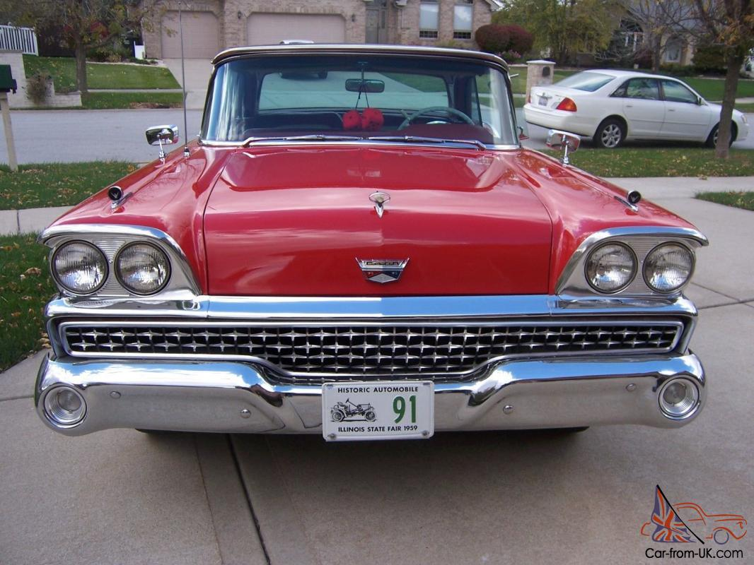 1959 ford fairlane 500 retractable hardtop 2 dr