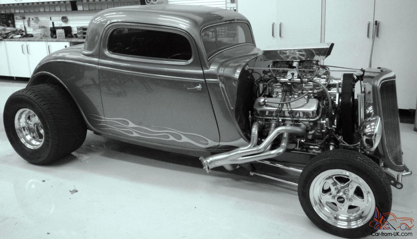 34Ford Coupe Show Car Blown Big Block Hot rod Custom Car Classic ...