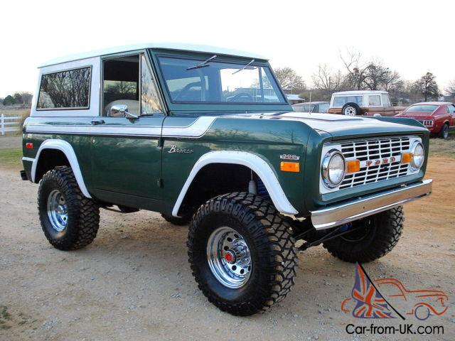 1970 ford bronco restored v8 lifted, 4wd, no reserve, convertible