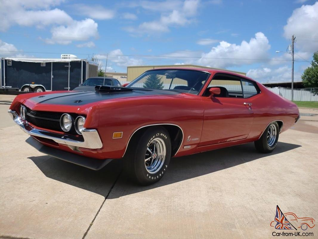 1970 ford torino rare 429 c i v8 cobra jet 4 speed restored marti report. Black Bedroom Furniture Sets. Home Design Ideas