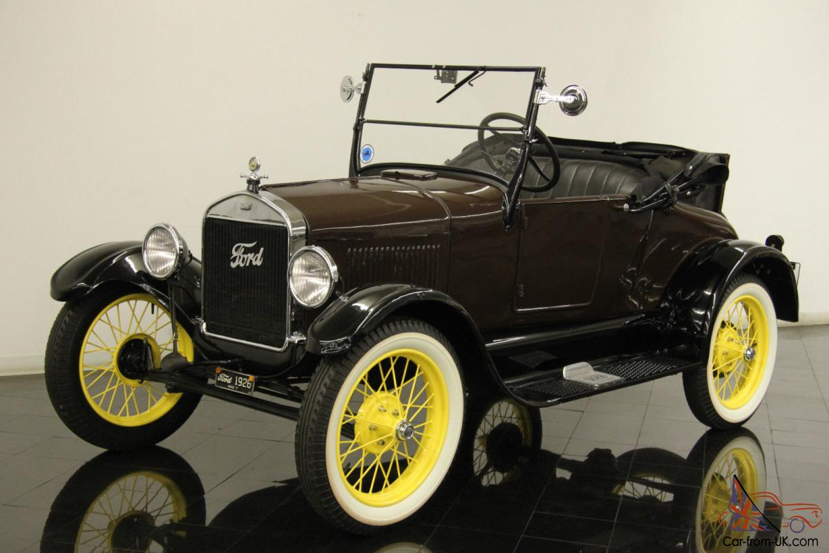 1926 ford model t runabout roadster rumble seat restored 12 volt upgrades
