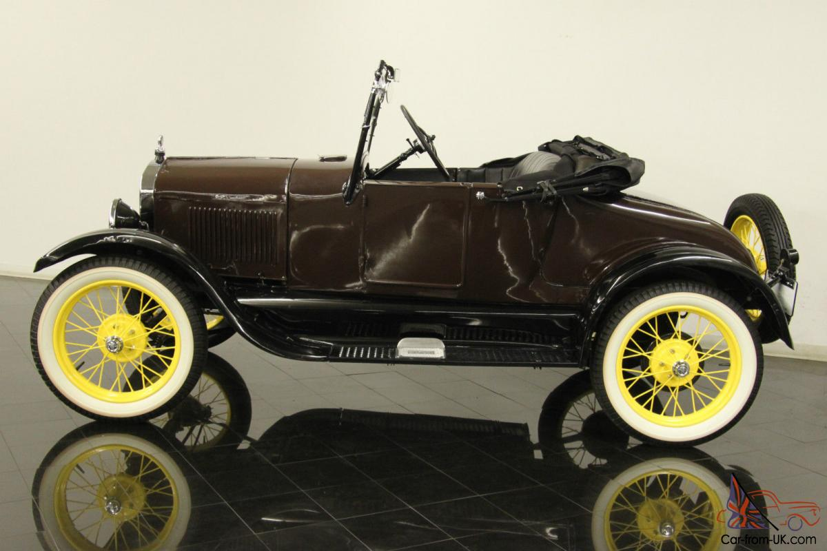 1926 Ford Model T Runabout Roadster Rumble Seat Restored 12 Volt Wiring Harness Upgrades