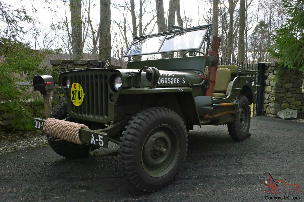 1945 willys mb wwii military jeep fully restored no. Black Bedroom Furniture Sets. Home Design Ideas