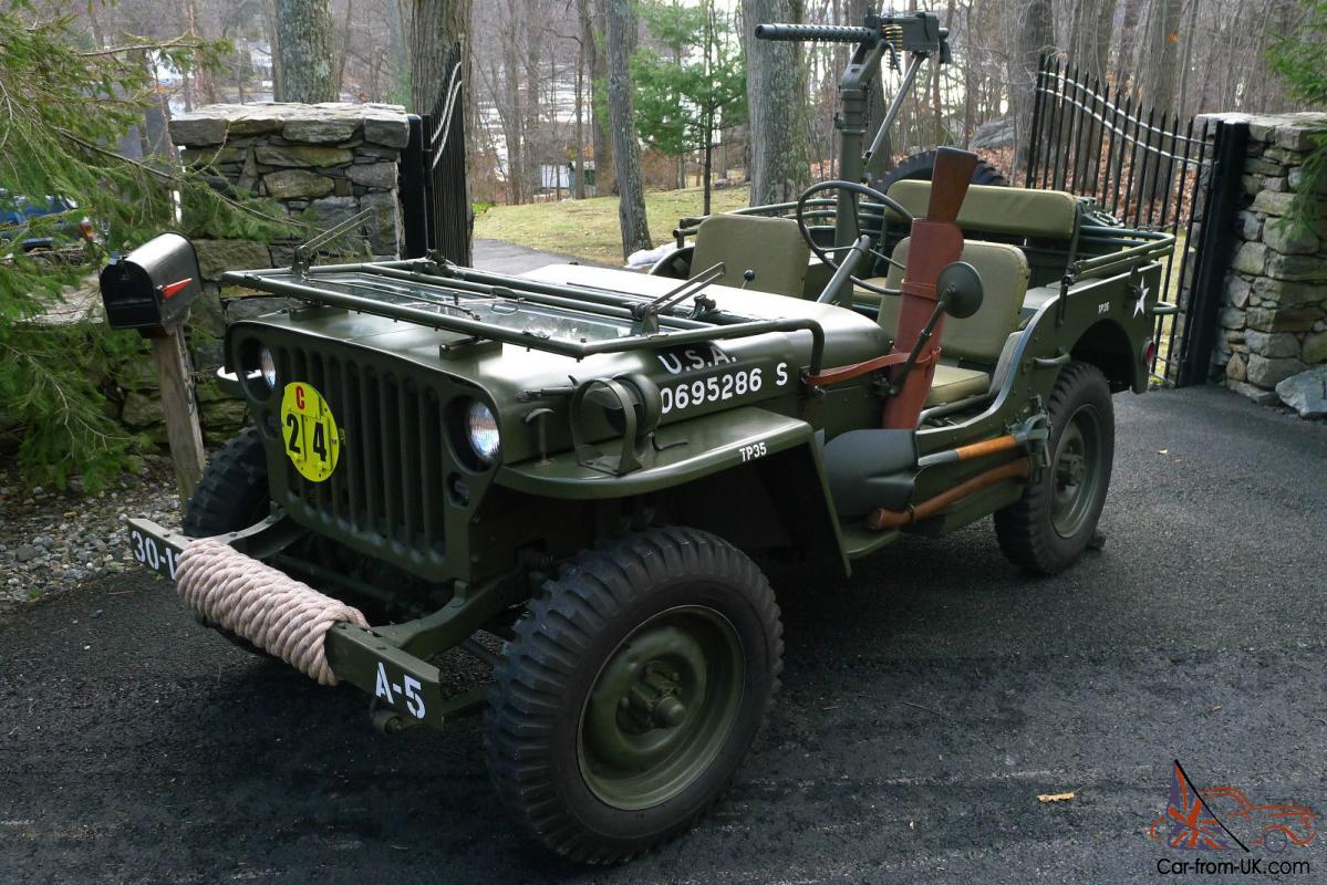 1945 willys mb wwii military jeep fully restored no reserve. Black Bedroom Furniture Sets. Home Design Ideas