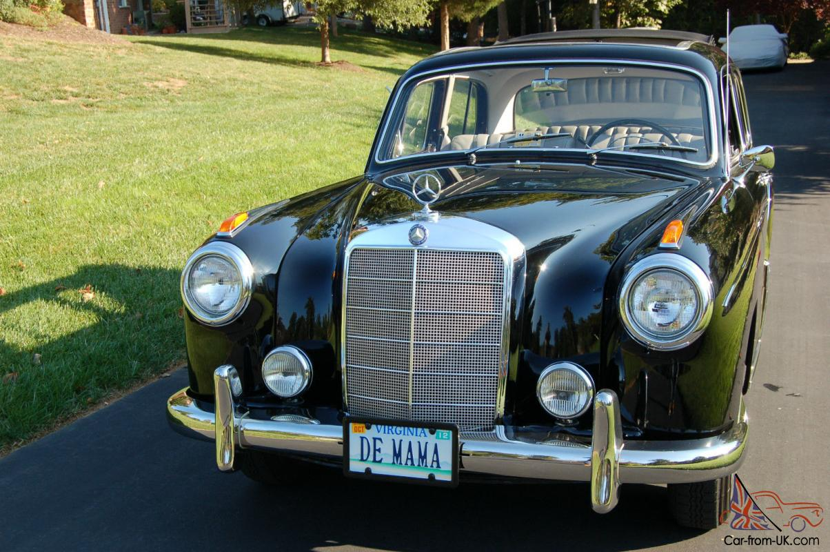 1958 mercedes benz 220s completely restored with webasco for 1958 mercedes benz 220s for sale