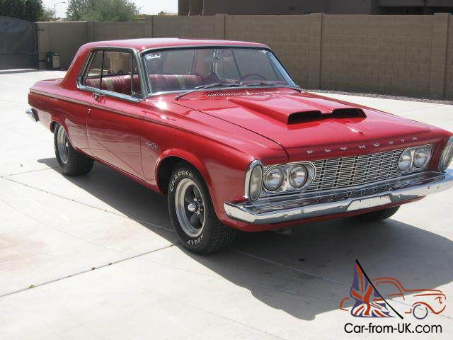 1963 Plymouth Sport Fury 426 Max Wedgelong Ram Correct Motor 4 Speed Red
