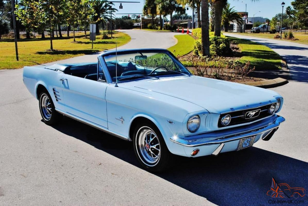1966 ford mustang 289 big block v8 convertible. Black Bedroom Furniture Sets. Home Design Ideas