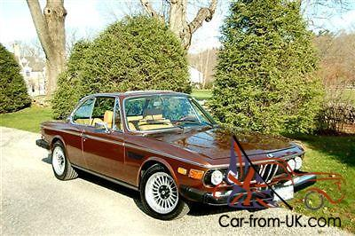 1974 Bmw 3 0cs In Sienna Brown Metallic 3 5 Liter W
