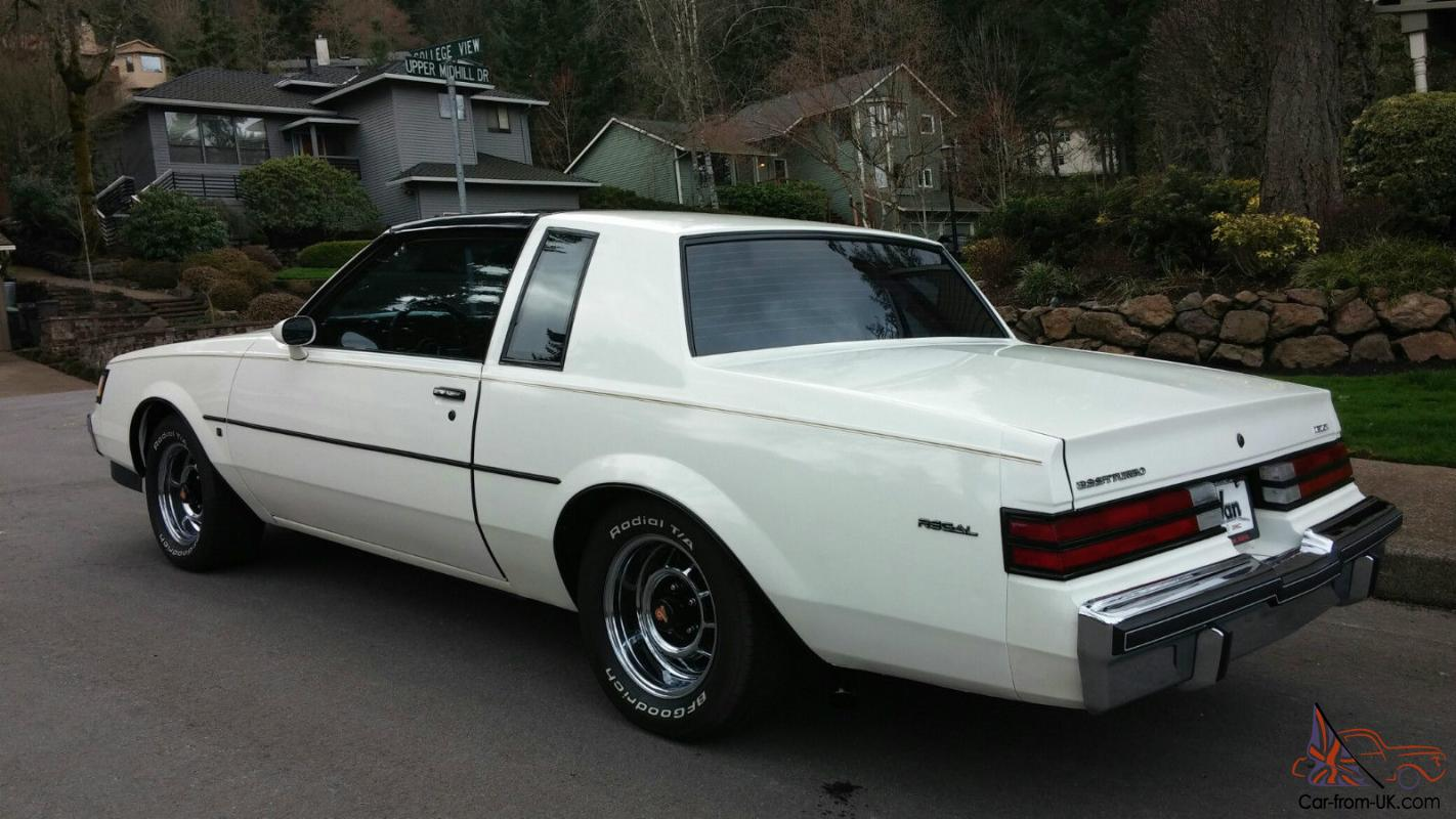 1987 buick regal t type turbo with t tops rarer than a. Black Bedroom Furniture Sets. Home Design Ideas