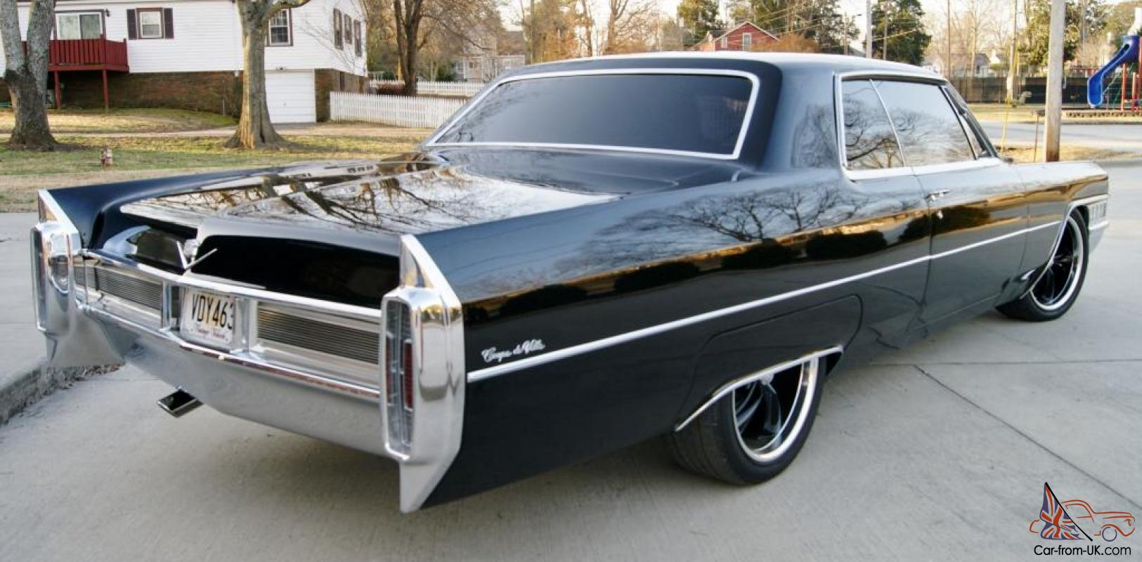 Fs Ft 1965 Cadillac Coupe Deville Black Sinister 73k Miles