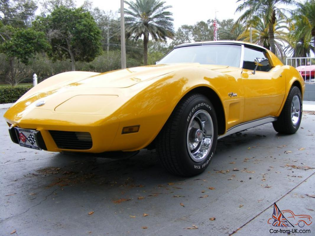 1976 chevy corvette yellow automatic stingray for sale. Cars Review. Best American Auto & Cars Review