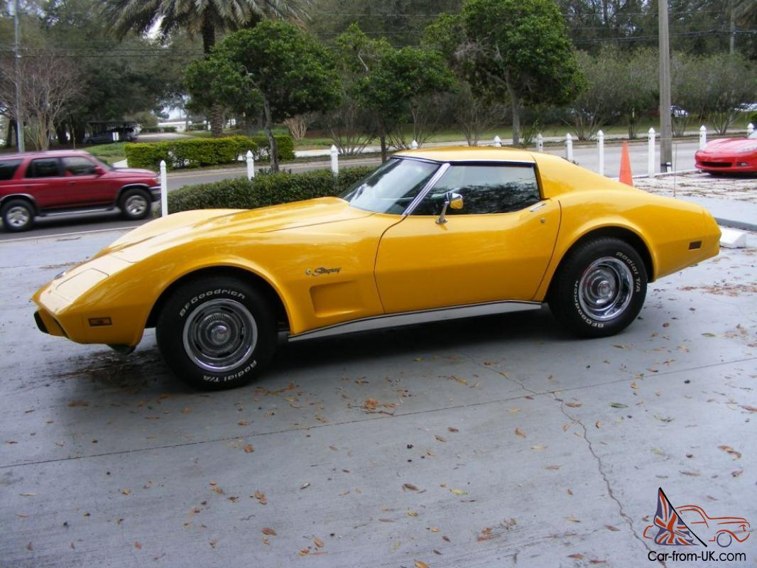 1976 Chevy Corvette Yellow Automatic Stingray For Sale