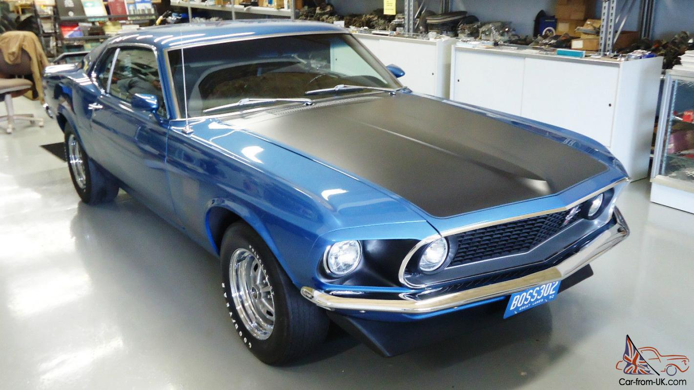 1969 boss 302 mustang matching rotisserie acapulco blue. Black Bedroom Furniture Sets. Home Design Ideas