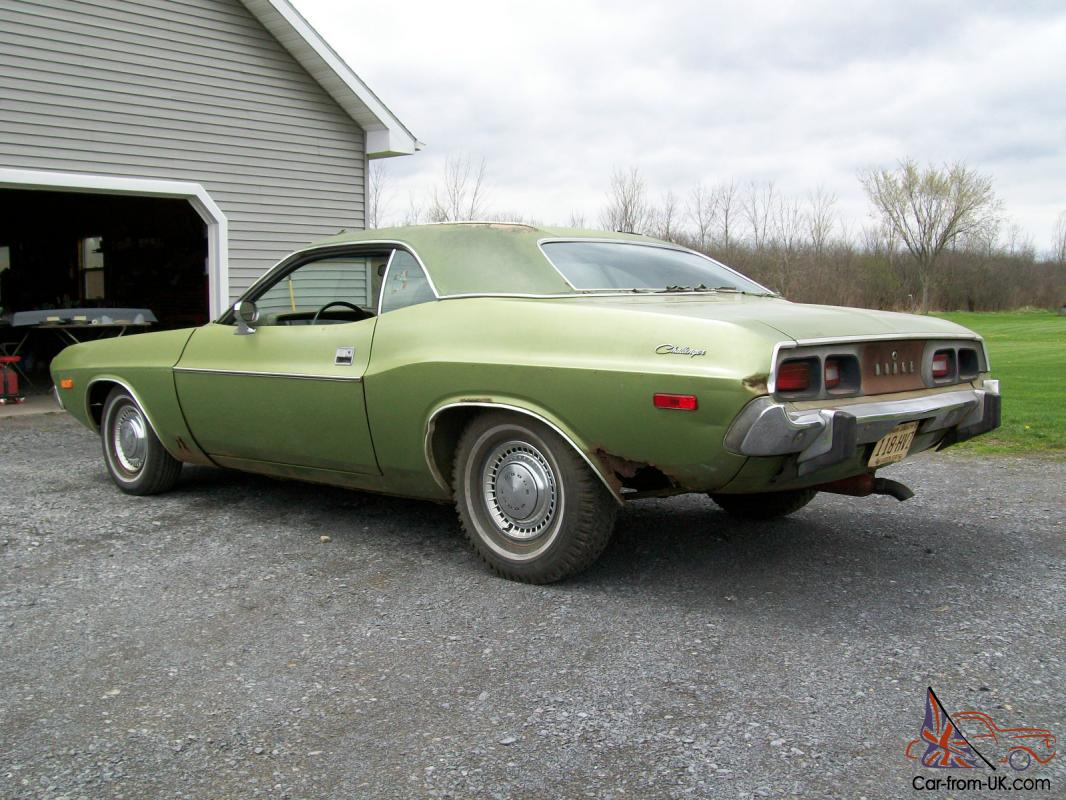 1973 73 Dodge Challenger Original Unmolested Survivor V 8 Buckets