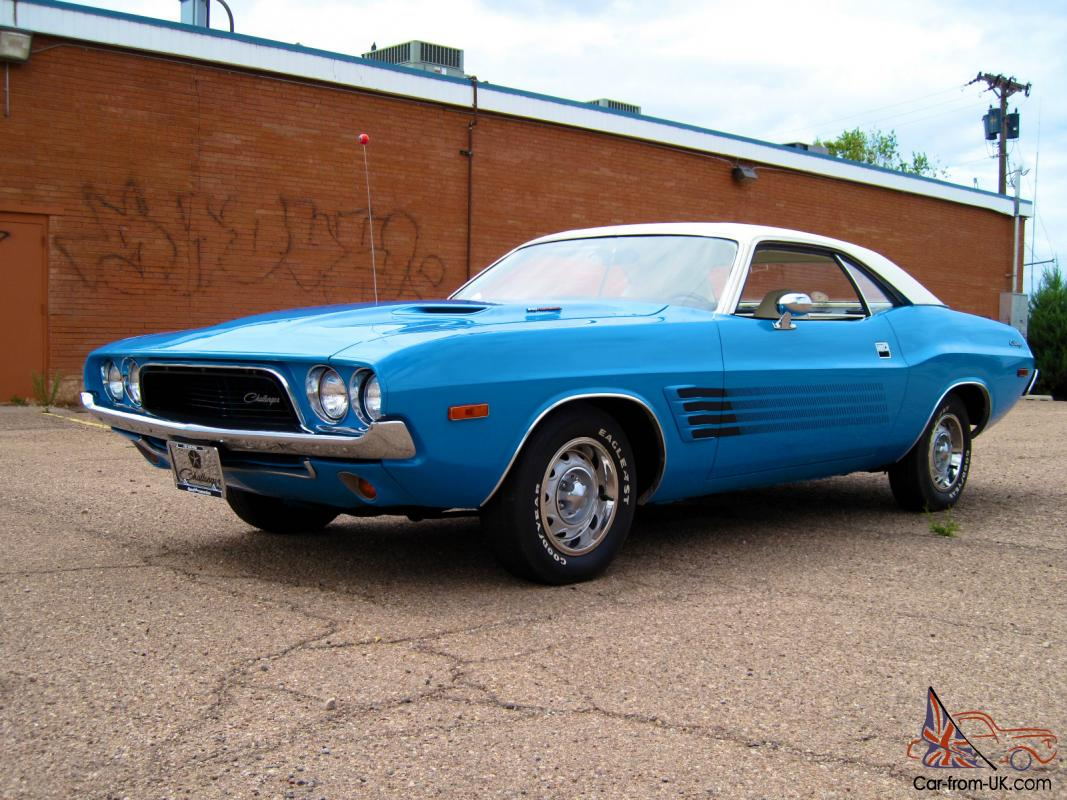 1973 Dodge Challenger Super Blue 4 Speed Manual 340 4bbl