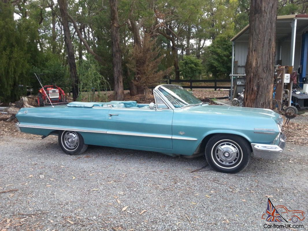 1963 chevrolet impala ss convertible. Black Bedroom Furniture Sets. Home Design Ideas