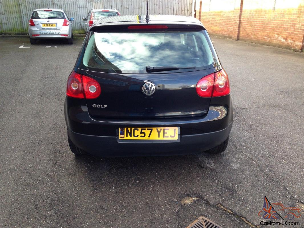 2007 volkswagen golf 2 0 s sdi diesel black 5 door hatchback good condition. Black Bedroom Furniture Sets. Home Design Ideas