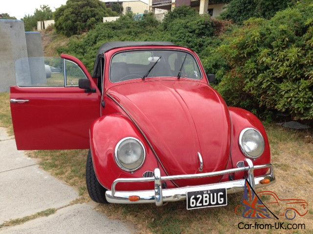 Gorgeous Red 1962 Volkswagen Beetle Convertible Beach Buggy In Quinns Rocks Wa Photo
