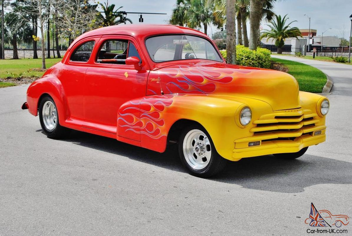 Stunning 1947 Chevrolet Coupe street Rod 350 creat motor vintage a/c