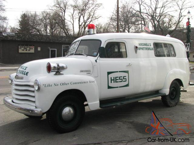 1950 chevrolet 3800 panel truck ambulance fire truck for 1950 chevy truck door panel
