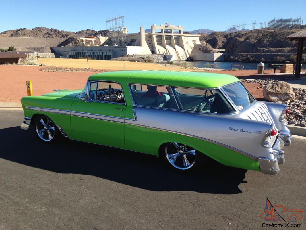 1956 chevy nomad as seen on tv by fast n loud for dale jr green silver. Black Bedroom Furniture Sets. Home Design Ideas