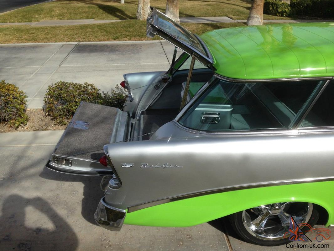 Feed Pictures - 1956 Chevy Nomad Electric Green Nomad Machine