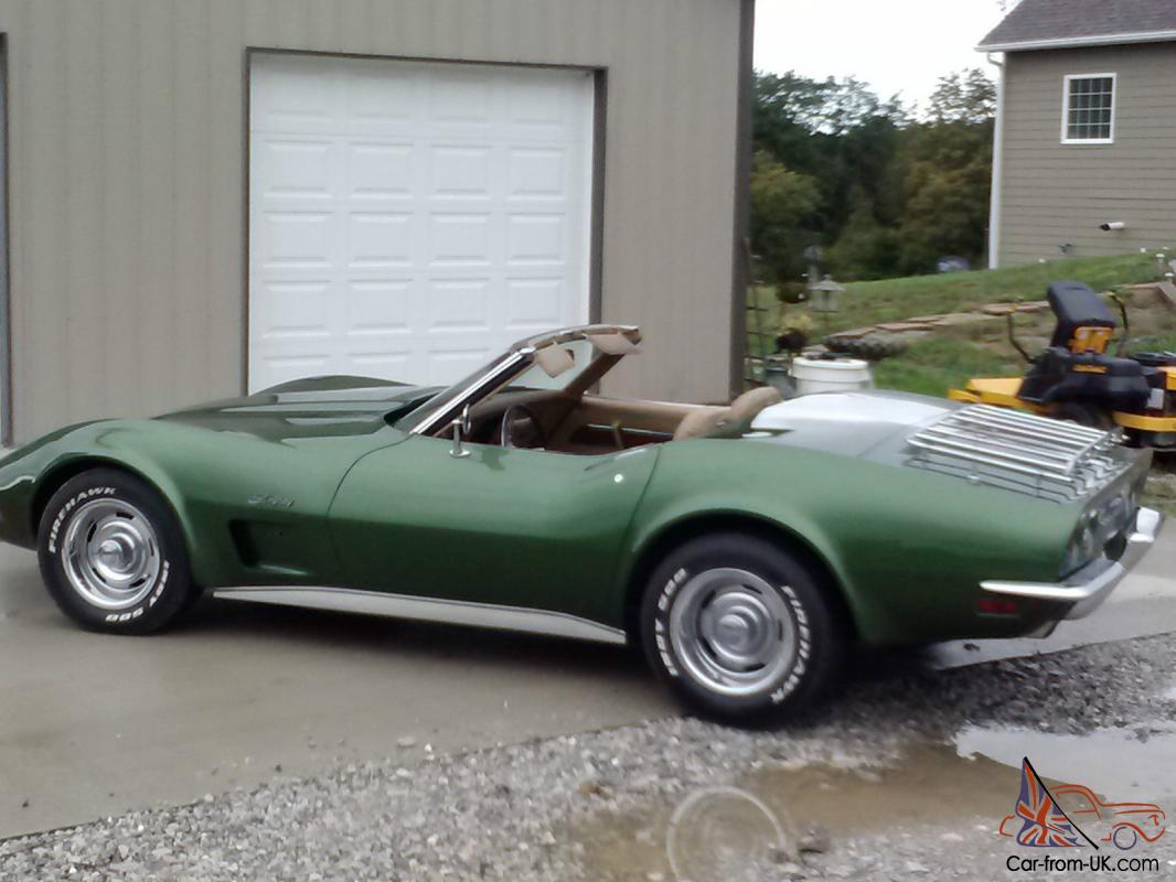 1973 CORVETTE STINGRAY CONVERTIBLE. MATCHING NUMBERS. 41 YR OLD ...