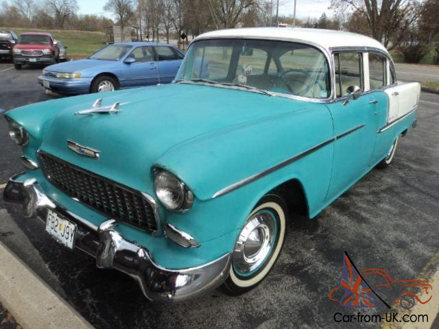 1955 chevy bel air 4 door turquoise white for 1955 chevy bel air 4 door