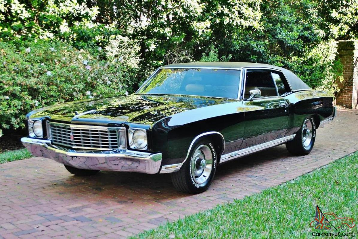 incredable 1972 chevrolet monte carlo 454 ss triple black 45ks loaded real sweet. Black Bedroom Furniture Sets. Home Design Ideas