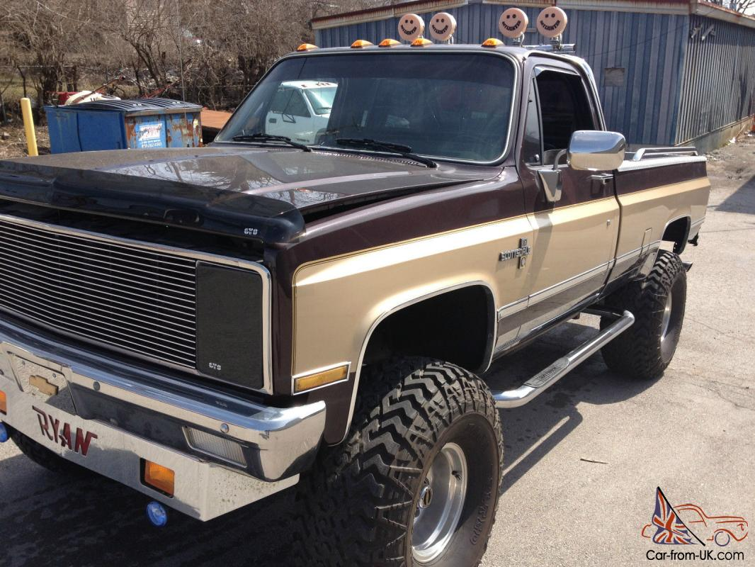 1982 chevy 1 2 ton lifted 4x4. Black Bedroom Furniture Sets. Home Design Ideas