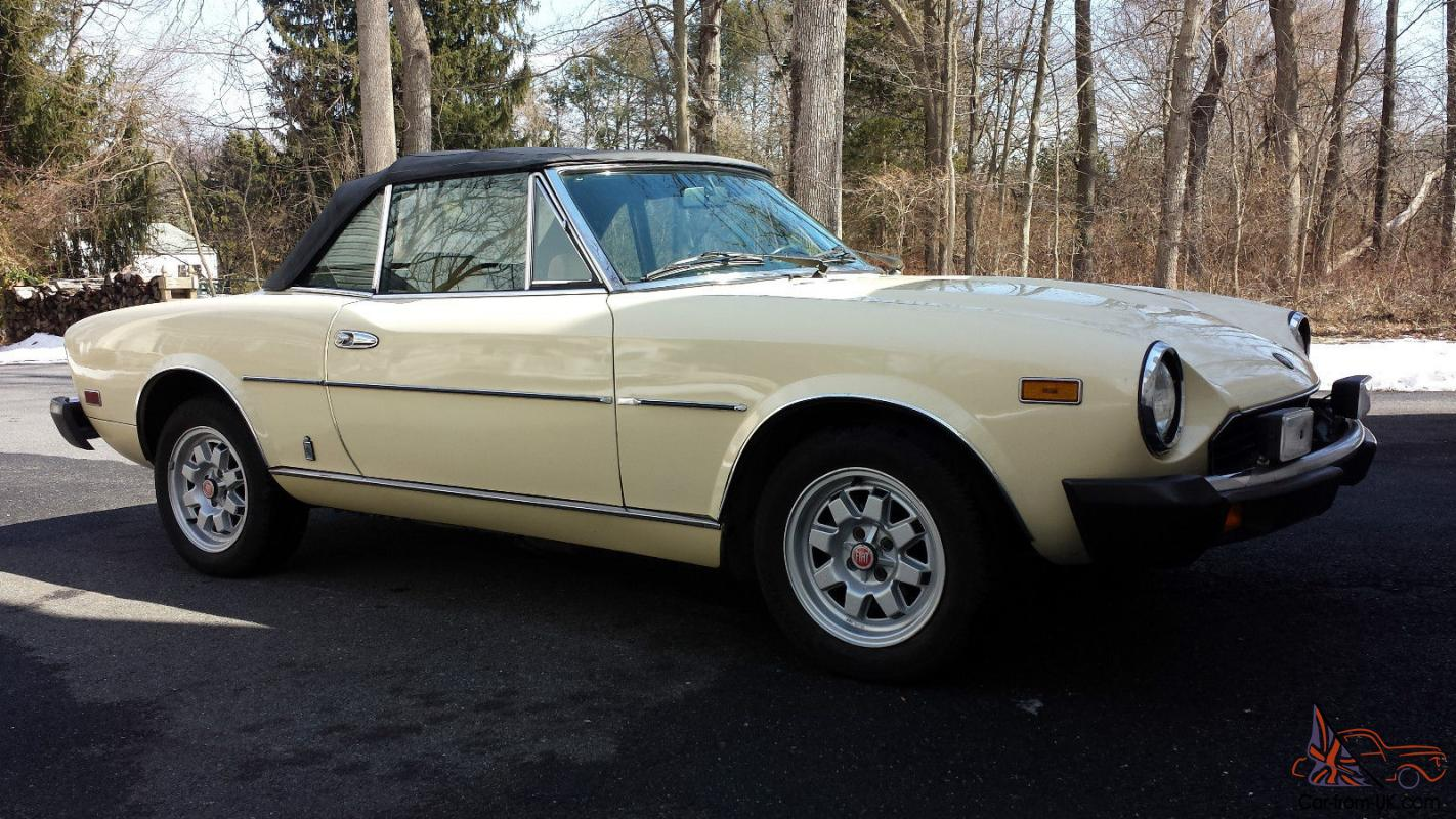1982 fiat spider 2000 pininfarina with only 74 292 miles