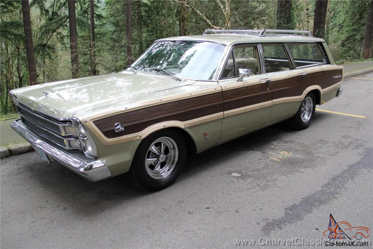 1966 ford country squire station wagon restored see video. Black Bedroom Furniture Sets. Home Design Ideas