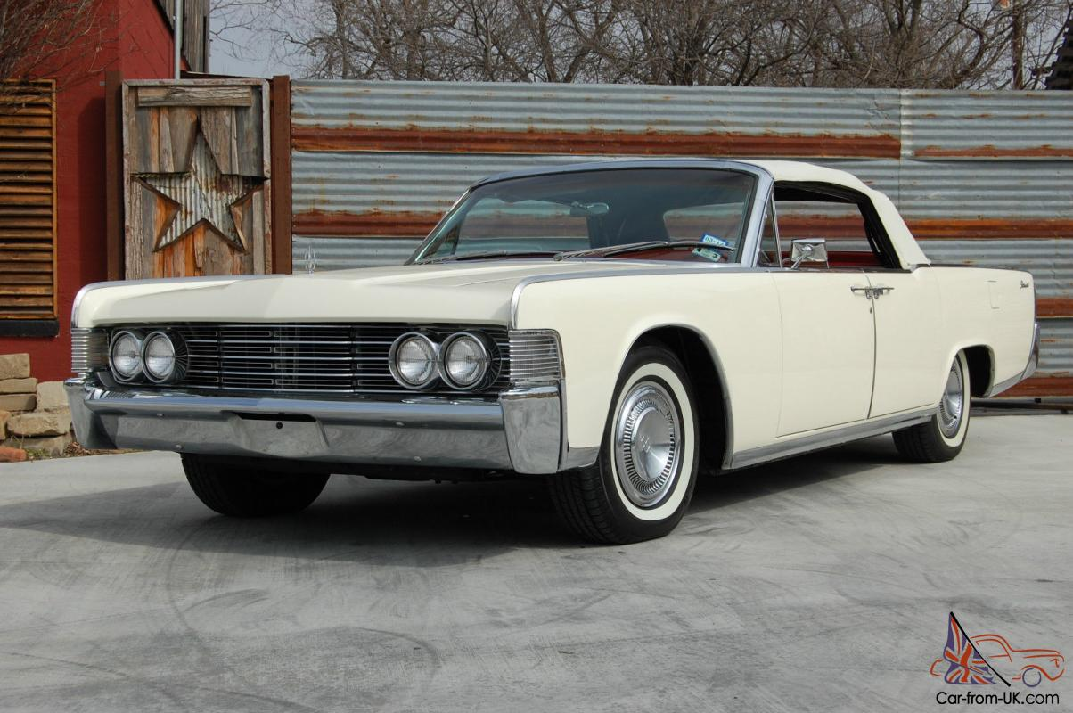 1965 lincoln continental convertible white red. Black Bedroom Furniture Sets. Home Design Ideas