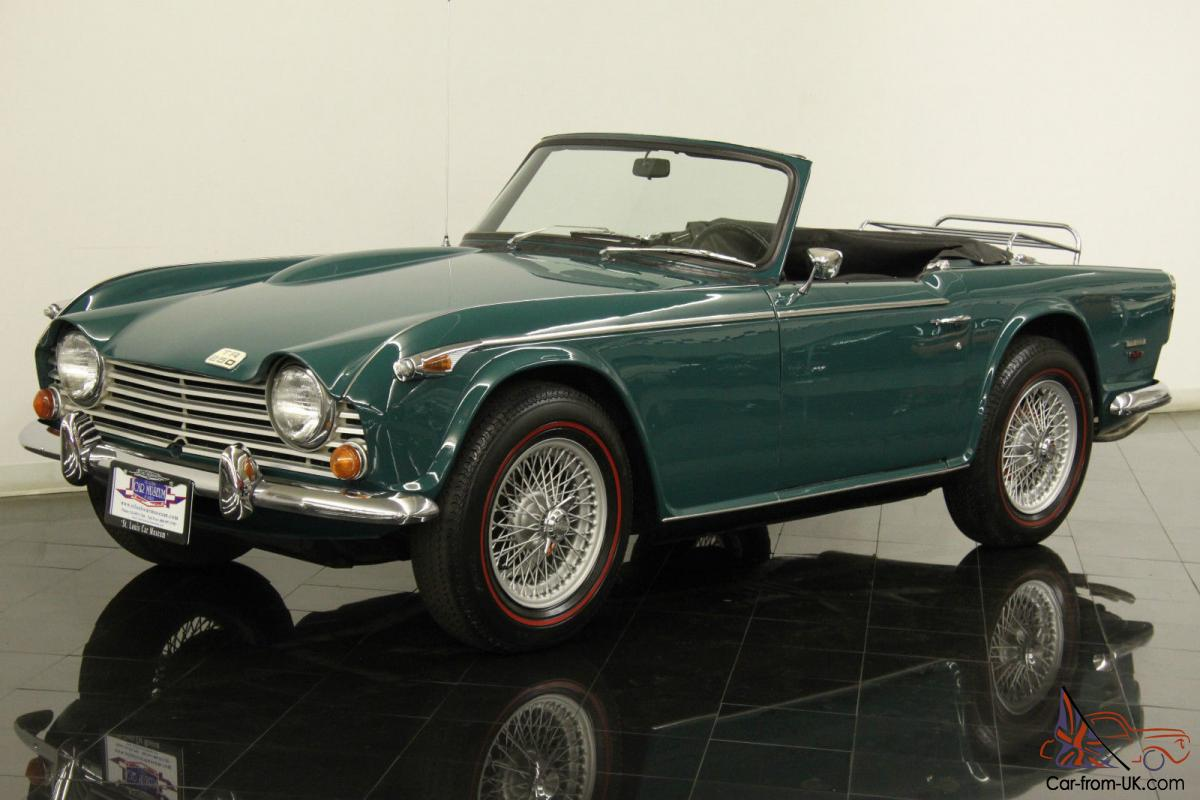 1 Year Car Lease >> 1968 Triumph TR250 Produced Only 1 Year Very Rare Racing Green Redlines Sharp